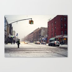 Snowy Day in Greenpoint, Brooklyn Canvas Print