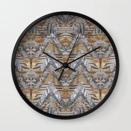 Wood Quilt 2 Wall Clock