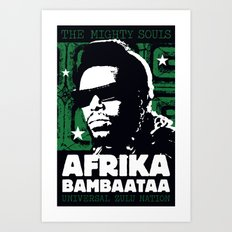 The Mighty Souls: Afrika Bambaataa Art Print