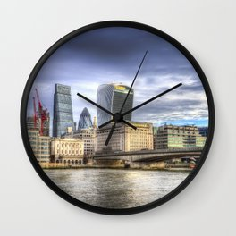 City of London and River Thames Wall Clock
