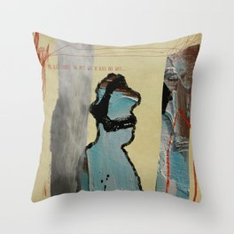 Mr Blues Throw Pillow