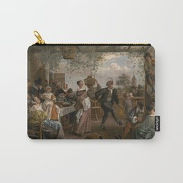 Jan Steen The Dancing Couple 1663 Painting Carry-All Pouch