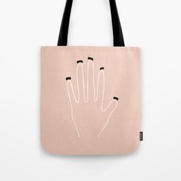 Minimalist Hand Collection: Dirt Under Nails Tote Bag