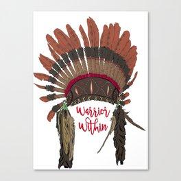 Warrior Within Head Dress Canvas Print