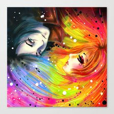 RAINBOW AND NIGHT Canvas Print