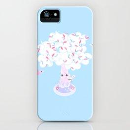 Kawaii Tree Clouds iPhone Case