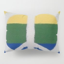 Rainbow Peace Sign Pillow Sham