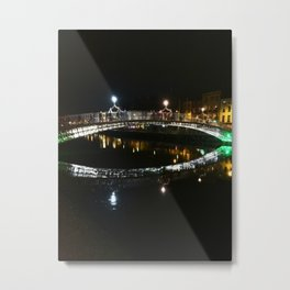 Lights on the Liffey Metal Print