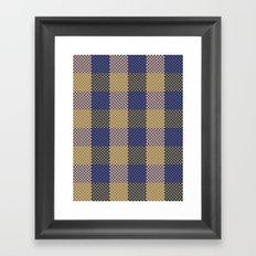 Pixel Plaid - Spring Thaw Framed Art Print