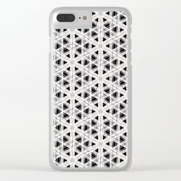 Modern abstract tiny triangle shaped lace modern abstract pattern Clear iPhone Case
