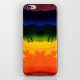 bold rainbow iPhone Skin