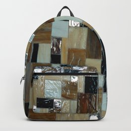 Tiled Gold and Grays Backpack