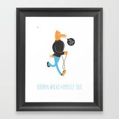 Dog Man Framed Art Print