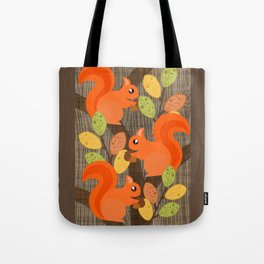 Three Squirrels In A Tree Tote Bag