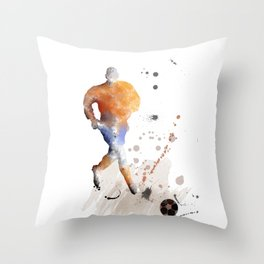 Soccer Player 7 Throw Pillow