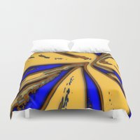 drum Duvet Covers featuring Caramel Drum by Stars Live Forever