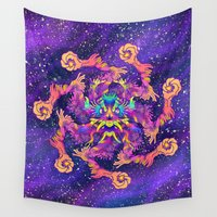 demon Wall Tapestries featuring Star Demon by xzyolotl