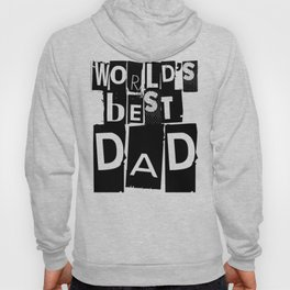 World's Best Dad Black and White Typography Hoody