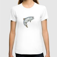trout T-shirts featuring Trout - by Rui Guerreiro by CRG ArtDesign