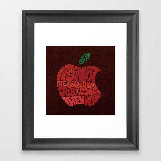 Steve Jobs on Consumers Framed Art Print