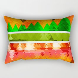 Autumn Abstract OrangeTrees themed pattern Design Rectangular Pillow
