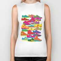 sneakers Biker Tanks featuring Sneakers by Glen Gould