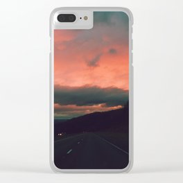 Winter Road Trip Clear iPhone Case
