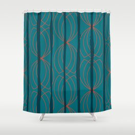 BLOCK STRIPES & GRAPIC I Shower Curtain