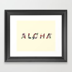 Aloha in Flowers Framed Art Print