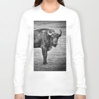 buffalo Long Sleeve T-shirts featuring Buffalo by davehare