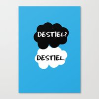 tfios Canvas Prints featuring Destiel - TFIOS by downeymore