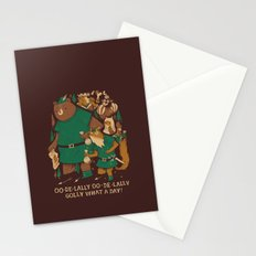 oo-de-lally (brown version) Stationery Cards
