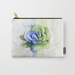 Flower Rose Watercolor Painting 12th Man Art Carry-All Pouch
