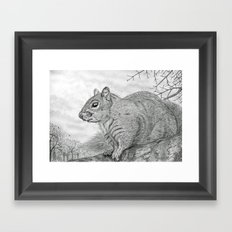 The Grey Peril Framed Art Print