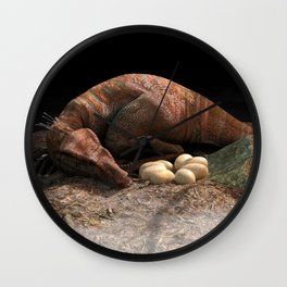 Sleeping Raptor Wall Clock