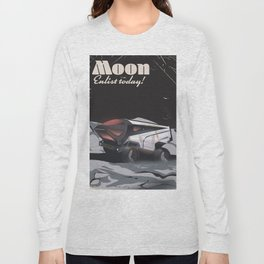 """Moon - """"Enlist Today"""" Sci-fi poster Long Sleeve T-shirt"""