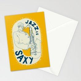 Jazz Is Saxy Stationery Cards