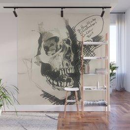 Inktober skull Wall Mural