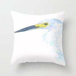 Green Eyed Heron Throw Pillow