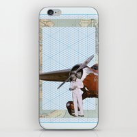 aviation iPhone & iPod Skins featuring Aviation by Allegra Jones