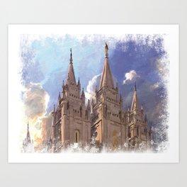 Salt Lake City Utah LDS Temple Art Print