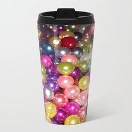 Rainbow beads Metal Travel Mug