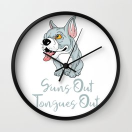 Pitbull Edition SunsOutTonguesOut Wall Clock