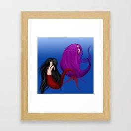 Merman & Mermaid Framed Art Print