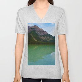 Kinney Lake in Mount Robson Provincial Park, British Columbia Unisex V-Neck