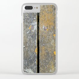 Ocean Weathered Wood With Lichen Clear iPhone Case