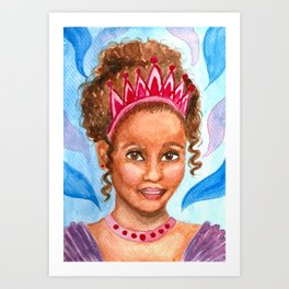 Little Princess - Watercolor Portrait Painting Art Print