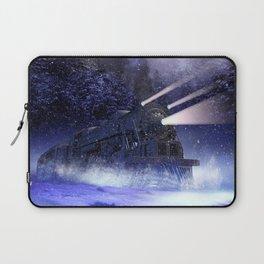 Snowy Night Train Laptop Sleeve