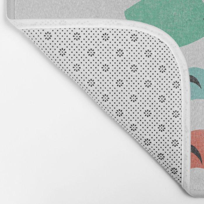 Tropical Groove (gray) Bath Mat