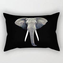 Elephant Portrait Rectangular Pillow